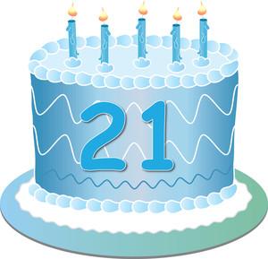 21st birthday cake clipart.  st clipartfest resolution