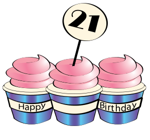 st clipartfest related. 21st birthday cake clipart