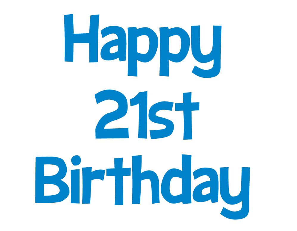 Happy 21st Birthday picture (blue clip art)- Happy Birthday pictures ... clip freeuse library