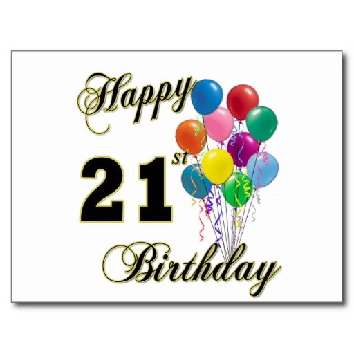 Happy 21st Birthday Graphics | Free Download Clip Art | Free Clip ... vector library download