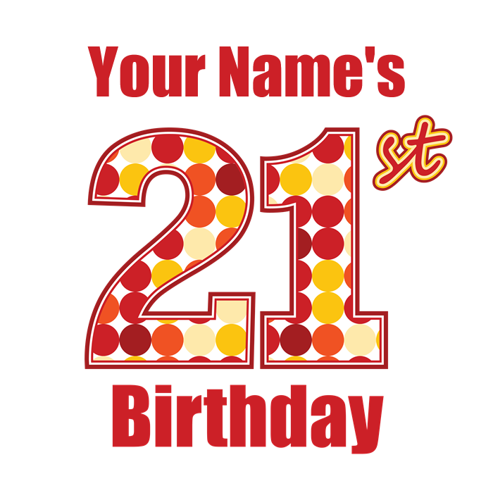 Happy 21st Birthday - Personalized! Tote Bag by MightyBaby royalty free
