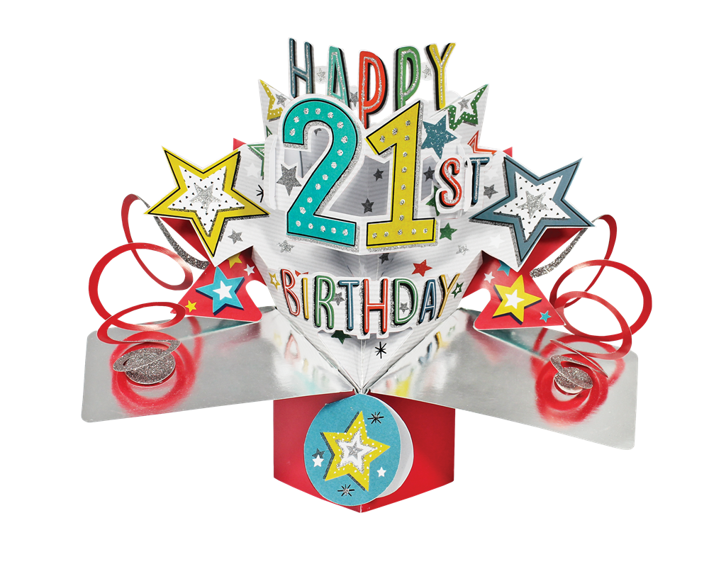 Happy 21st Birthday Pop-Up Greeting Card | Cards | Love Kates png freeuse download