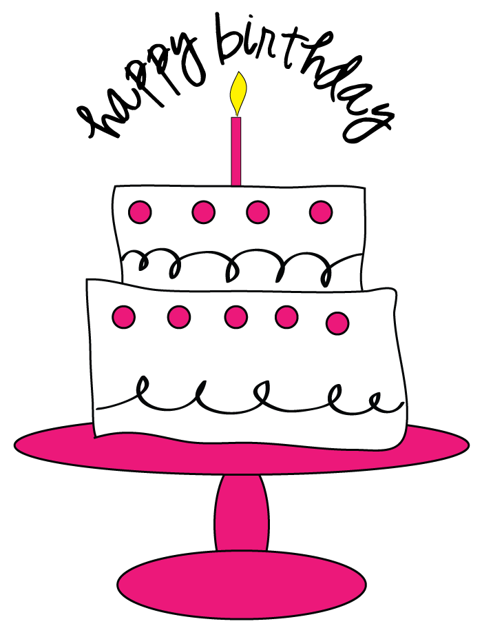 Clip art free birthday cake. Clipart for craft projects