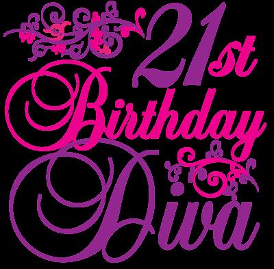 Transparent happy birthday diva clipart banner transparent stock Happy 21st Birthday Pictures Free - Cliparts.co | Happy Birthday ... banner transparent stock