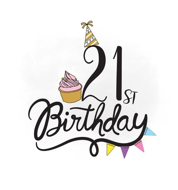 21st birthday clipart images image royalty free download 21st birthday clip art - Honey & Denim image royalty free download