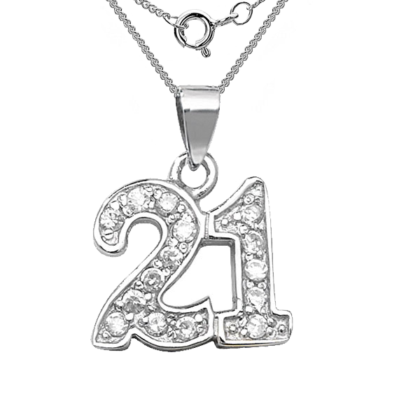 21st birthday key clipart clipart transparent download 21st Birthday Necklace, Cubic Zirconia & Sterling Silver clipart transparent download