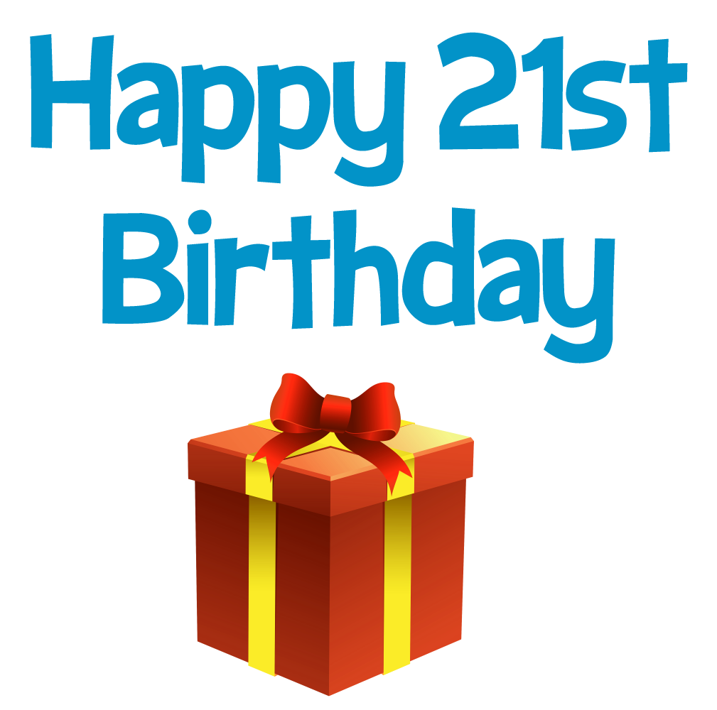 21st birthday pictures clip art clipart free stock Happy 21 st Birthday greeting and gift box clip art picture, image ... clipart free stock