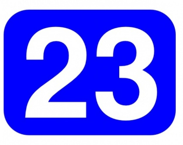 Number 23 Cliparts - Cliparts Zone vector library stock