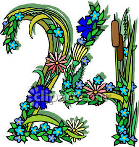 24 clipart clip art transparent Number 24 Made Of Flowers - Royalty Free Clipart Picture clip art transparent