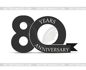 24 logo clipart svg black and white 90 years anniversary, simple design, logo - vector clipart svg black and white