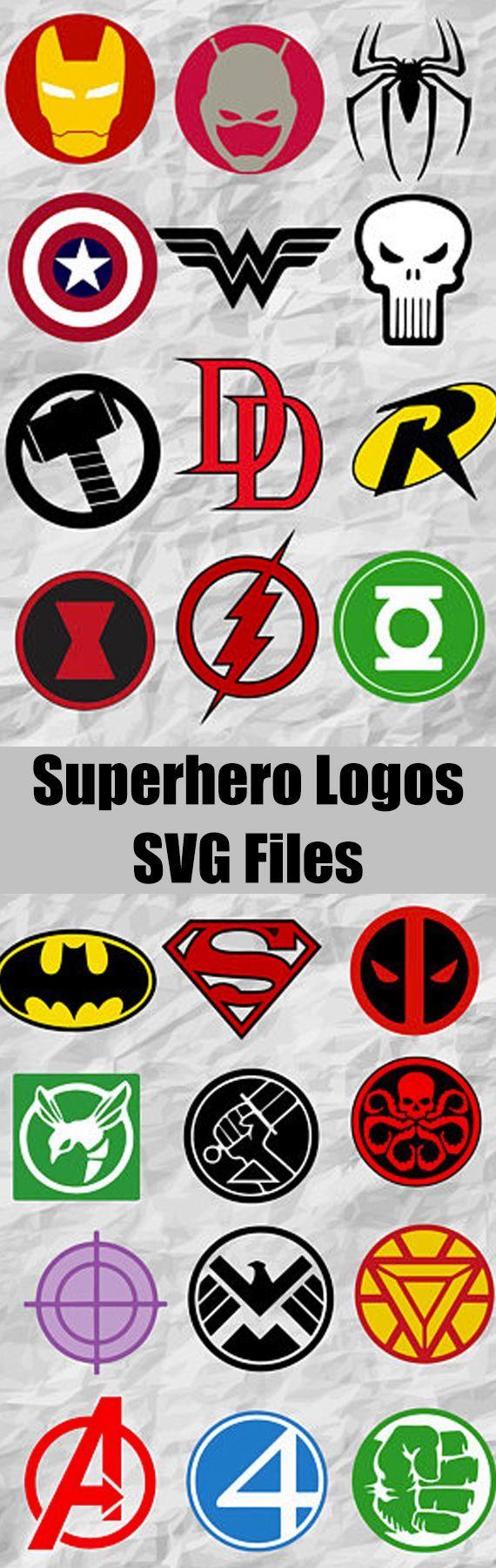 24 logo clipart clipart royalty free stock CLIP ART GALORE ~ 24 Superheroes Logo ClipArt | Cricut | Superhero ... clipart royalty free stock