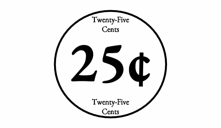 25 cents clipart vector transparent download Twenty Five Cents 25 Quarter Black And White - Clip Art Library vector transparent download