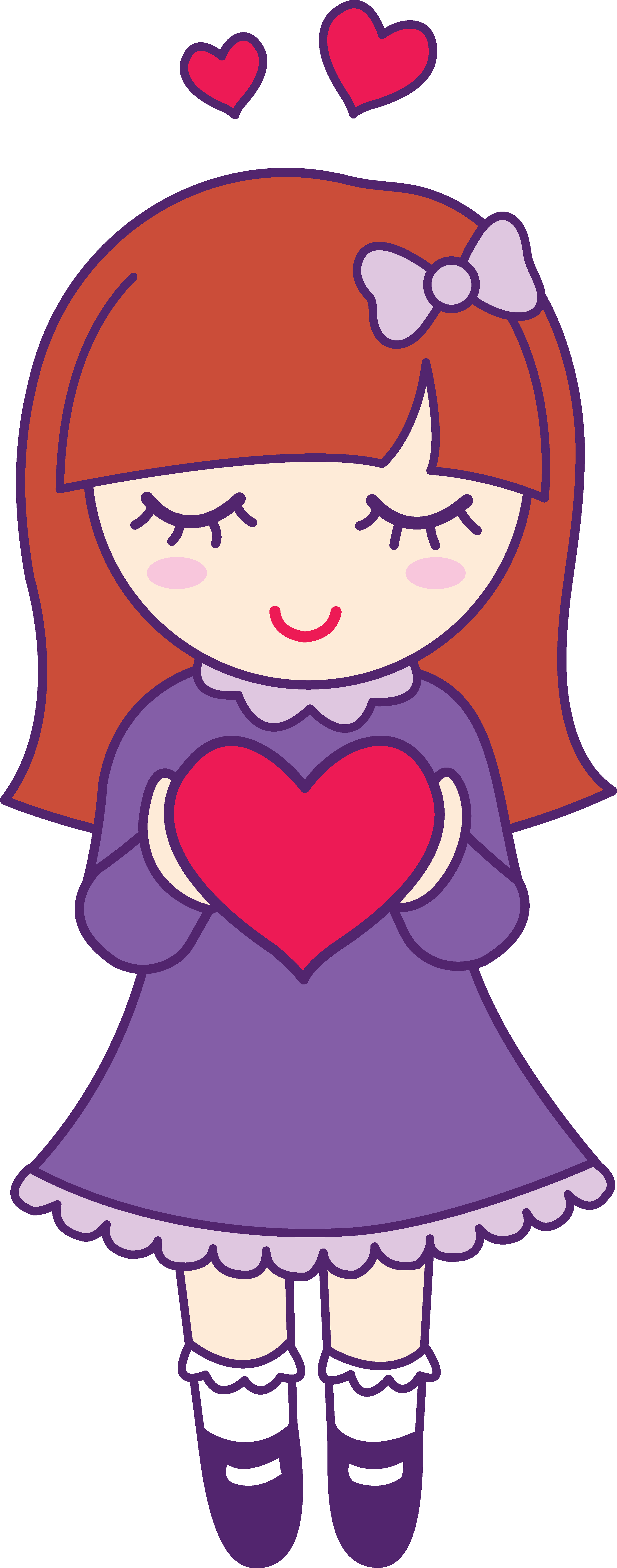 Cute girls clipart