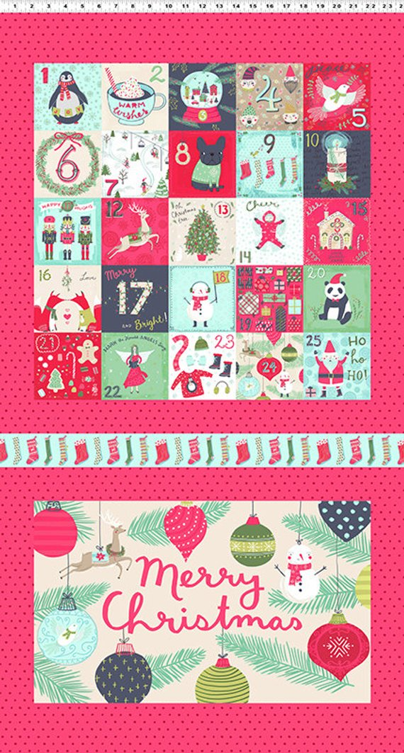 25 days of christmas clipart clip art freeuse download 25 Days of Christmas Fabric Collection - Light Red 25 Days of ... clip art freeuse download