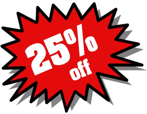 25 percent off clipart clipart library Discount Bin clipart library