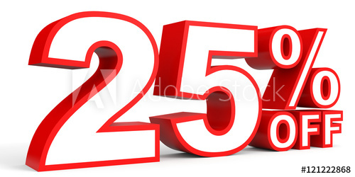 25 percent off clipart image library Discount 25 percent off. 3D illustration on white background. - Buy ... image library