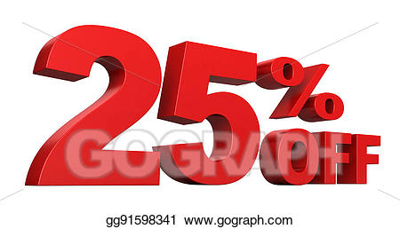 25 percent off clipart png freeuse stock Drawing - 25 percent off. Clipart Drawing gg91598341 - GoGraph png freeuse stock