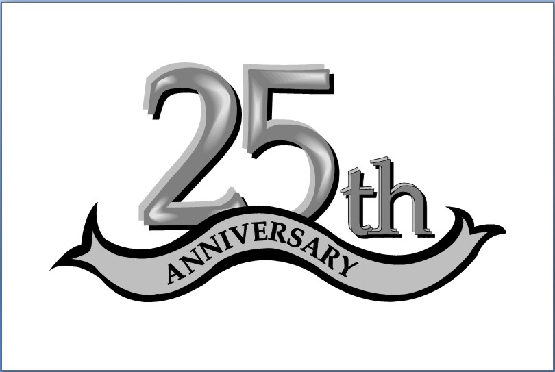 25 year anniversary clipart graphic black and white 25th Anniversary Clipart Group with 54+ items graphic black and white