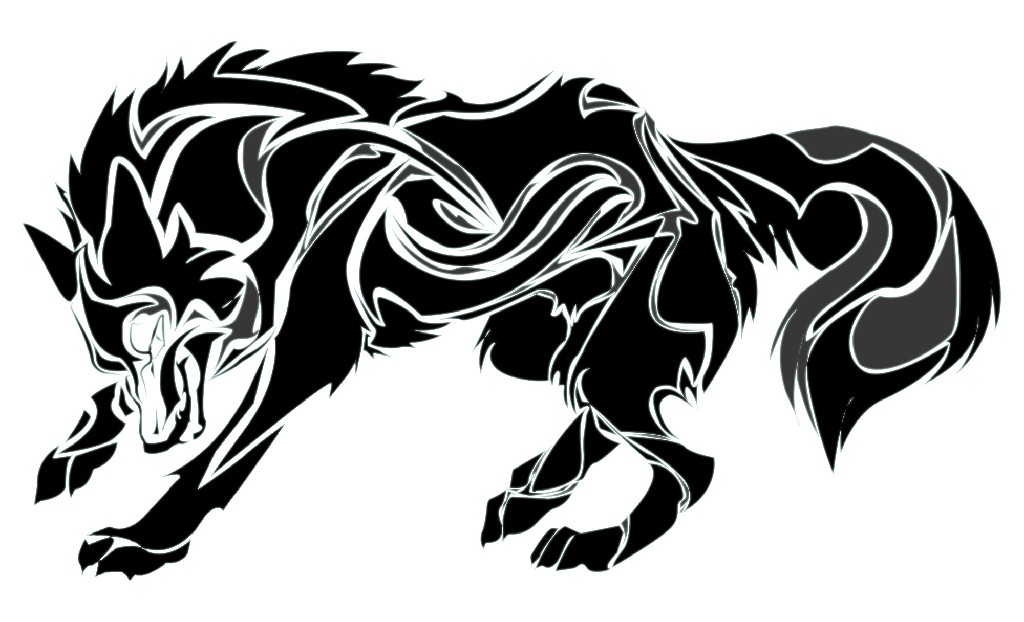 2560x1440 wolf clipart png transparent Tribal Wolf Wallpaper (58+ images) png transparent