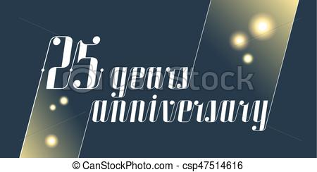 25th anniversary fireworks clipart graphic royalty free stock 25 years anniversary vector icon, logo graphic royalty free stock