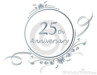 Silver jubilee reunion clipart clipart royalty free stock Silver Anniversary Clip Art | Floral design for a 25th or silver ... clipart royalty free stock