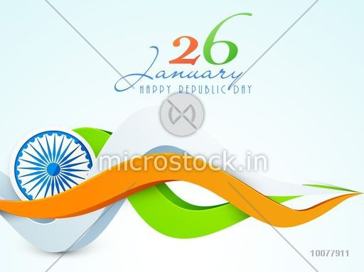 26 january cliparts svg royalty free download Creative 3D tricolour waves with Ashoka Wheel for 26 January, Happy Indian  Republic Day celebration. svg royalty free download