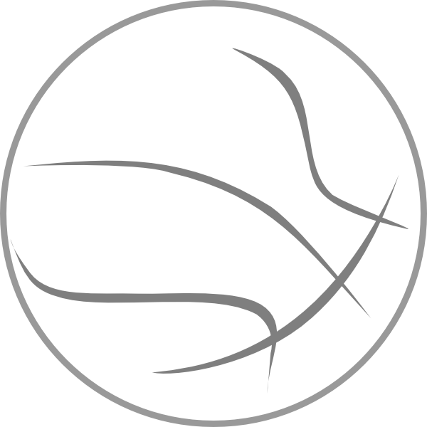 Half football clipart image library library Free Basketball Outline, Download Free Clip Art, Free Clip Art on ... image library library