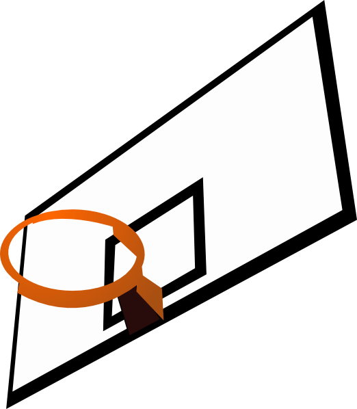 Basketball net clipart black and white library Basketball Hoop Clipart | Clipart Panda - Free Clipart Images black and white library