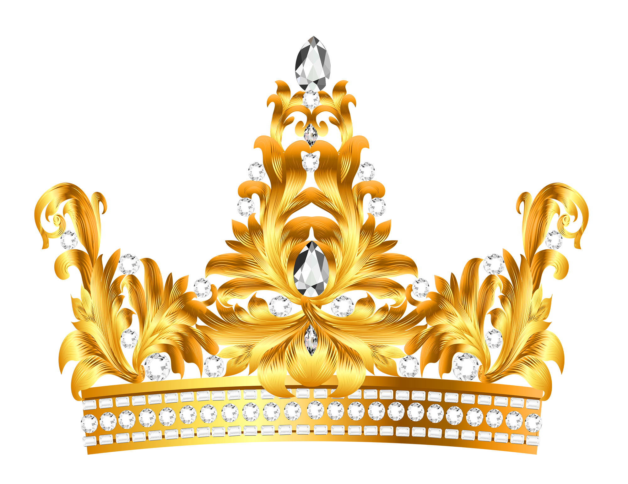 Clipart golden crown for a queen