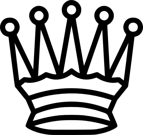 Black and white crown clipart queen png black and white stock Crown Clip Art at Clker.com - vector clip art online, royalty free ... png black and white stock