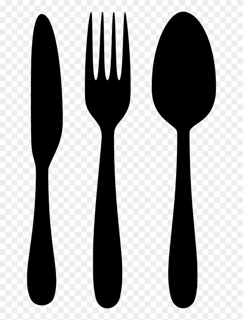 Download Png - Fork Spoon Knife Clipart, Transparent Png - 654x1024 ... jpg black and white