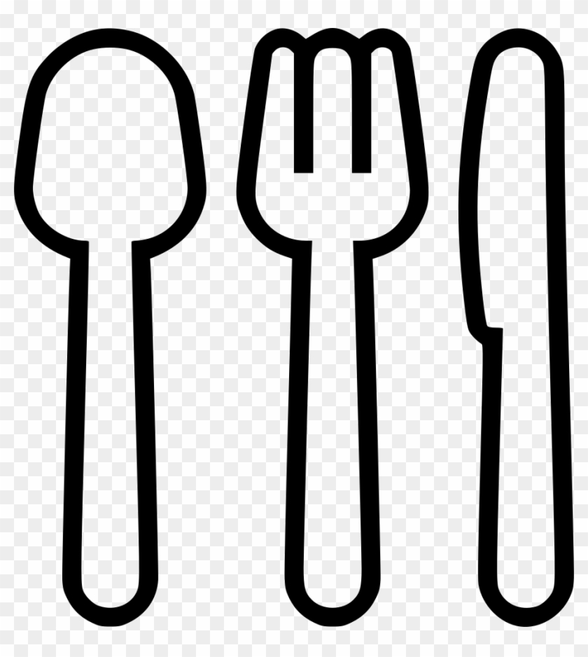 Spoon Fork And Knife Comments - ขาว ดำ 2d ช้อน ส้อม, HD Png Download ... svg black and white