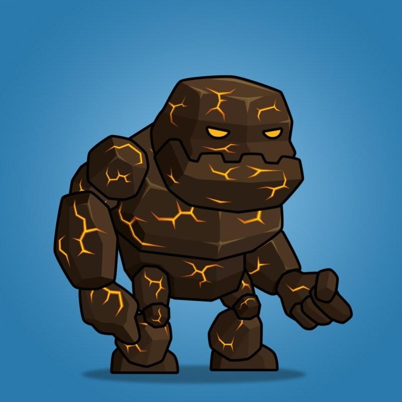 2d lava clipart jpg royalty free Tiny Lava Monster jpg royalty free