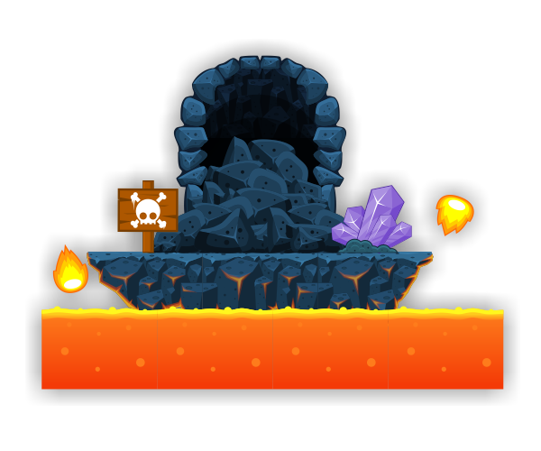2d lava clipart jpg royalty free stock Lava Cave – Platformer Tileset - Game Art Partners jpg royalty free stock