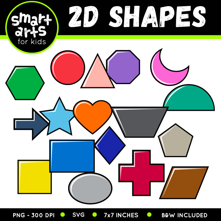 2d shape art clipart jpg freeuse download 2D Shapes Clip Art jpg freeuse download