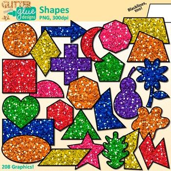 2d shape art clipart graphic free 2D Shape Clip Art: Math Manipulatives Graphics {Glitter Meets Glue ... graphic free