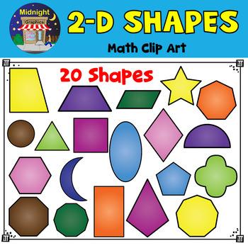 2d shape art clipart jpg freeuse download 2D Shapes Clip Art | 2D Geometric Shapes jpg freeuse download