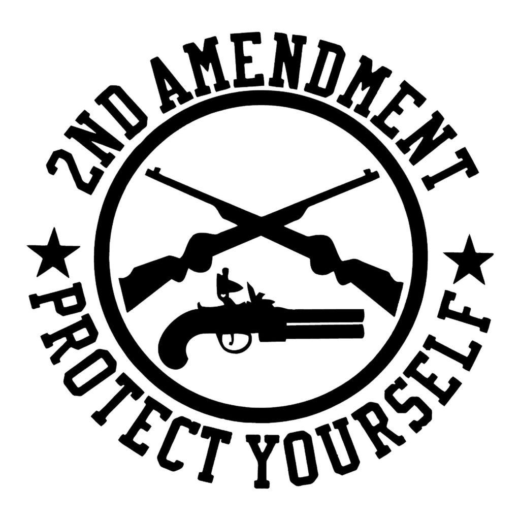2nd amendment clipart clip art black and white 2nd Amendment Crossed Guns - Stick Her Lady clip art black and white