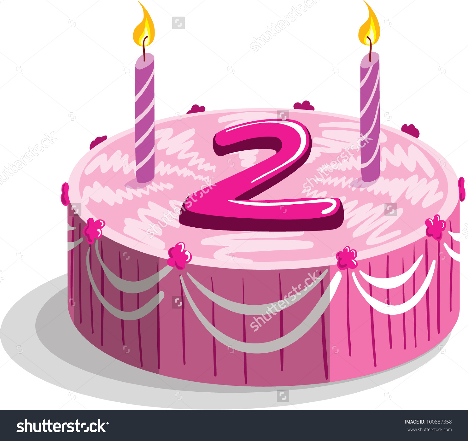 2nd birthday cake clipart - ClipartFest jpg free