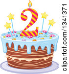 2nd birthday cake clipart image transparent library Royalty-Free (RF) Second Birthday Cake Clipart, Illustrations ... image transparent library