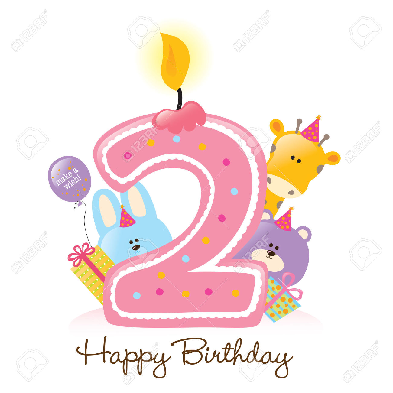 2nd birthday cake clipart - ClipartFest clip free stock