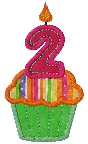 2nd birthday cake clipart black and white download 2nd Birthday Clipart - Clipart Kid black and white download