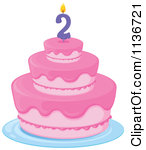 2nd Birthday Cake Clipart clipart transparent