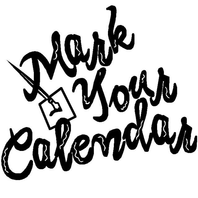 Mark your calendars clipart black and white black and white library Calendar Cliparts Black | Free download best Calendar Cliparts Black ... black and white library