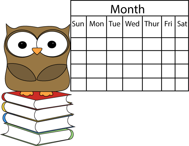 Cartoon calendar clipart clipart transparent library Calendar clipart transparent library