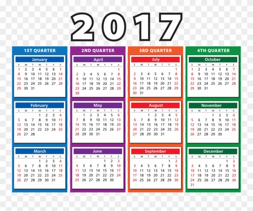 Calendar 2017 clipart vector royalty free library Calendar - Time - 2017 4th Quarter Calendar Clipart (#62957 ... vector royalty free library