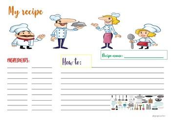 2nd grade recipe clipart clip art transparent stock Recipe Template Worksheets & Teaching Resources | TpT clip art transparent stock