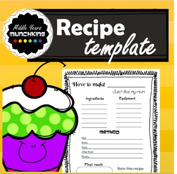 2nd grade recipe clipart graphic black and white download Recipe Template Worksheets & Teaching Resources | TpT graphic black and white download