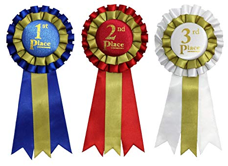 2nd place award ribbon clipart clip Premium Award Ribbons 1st, 2nd, 3rd Place - 1 set (3 ribbons) clip