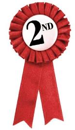 2nd place ribbon clipart png black and white Second place clipart - ClipartFest png black and white